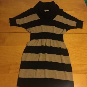 Black and Tan stripped sweater dress